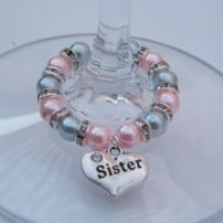Sister Wine Glass Charms